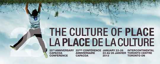 The Culture of Place, January 23-26, Toronto