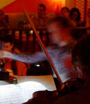 Classical ensemble Euphonia performing at Lula Lounge in Toronto